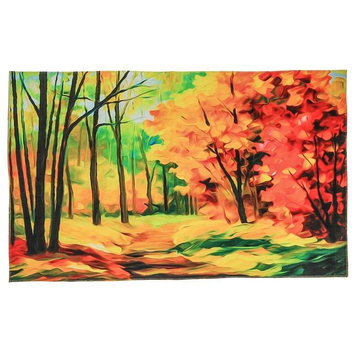 """Коврик для дома 120х80 см """"Осенний лес"""""""