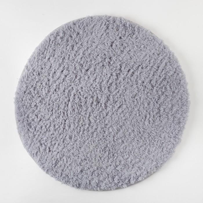 Ковёр «Этель» Lama, цвет серый, диаметр 80 см, 100% п/э