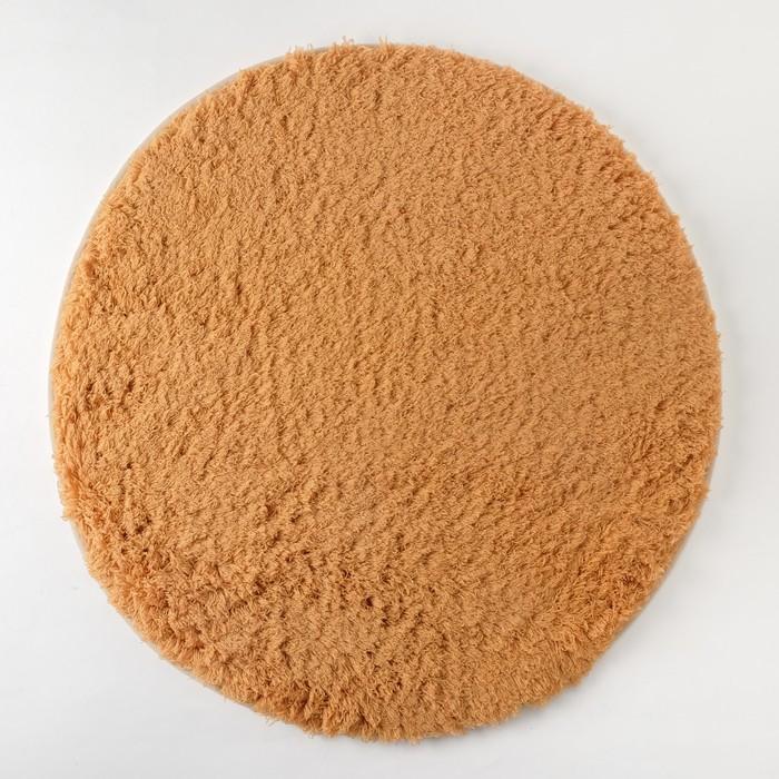 Ковёр «Этель» Lama, цвет темно-бежевый, диаметр 80 см, 100% п/э