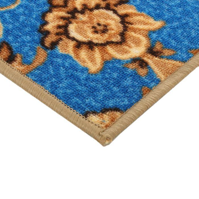 Палас Аида, размер 150х200 см, цвет синий, войлок 195 г/м