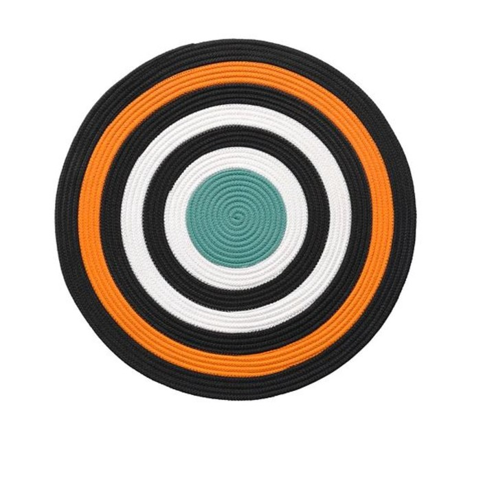 Ковёр ЛАТТО, размер 75х75 см, плетеный, цвет оранжевый