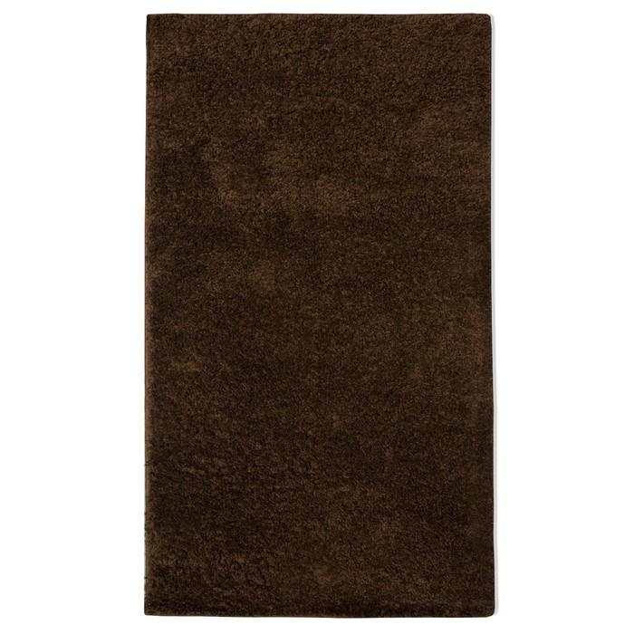 Ковер Шегги 80х150 см, коричневый, ПП 100%