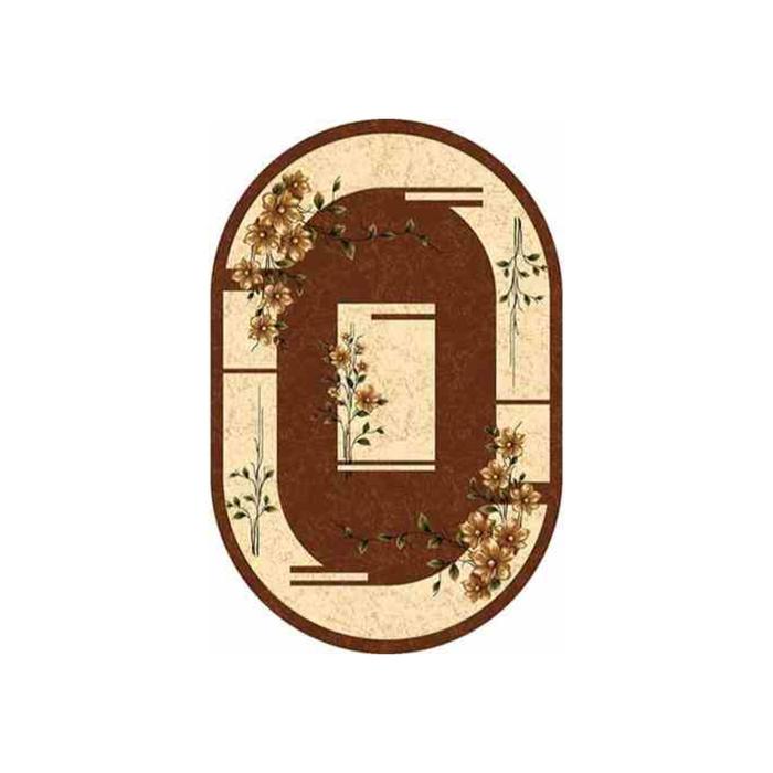 Ковер Heat-set DA VINCI d024, 0,8 × 1,5 м, овал, BROWN