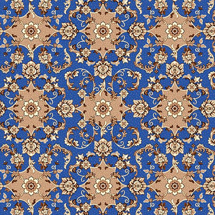 Палас АИДА 200х200 см, синий, войлок, 195 г/м2
