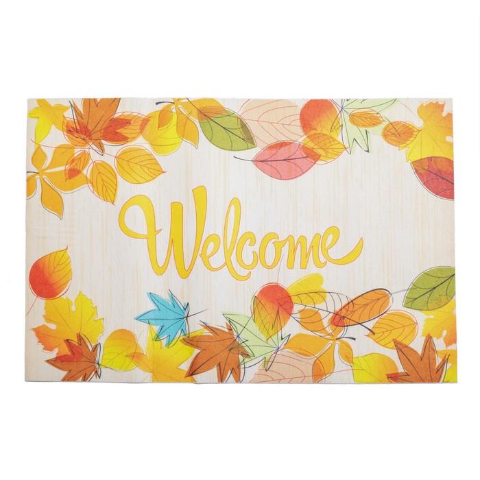 "Коврик для дома ""Welcome"" 38х58 см, осень"