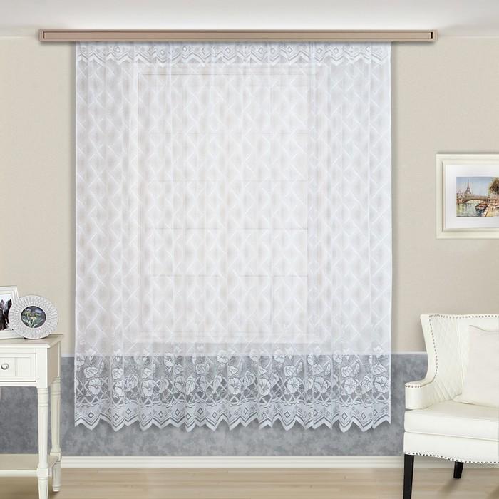 Тюль, размер 230х300 см, цвет белый