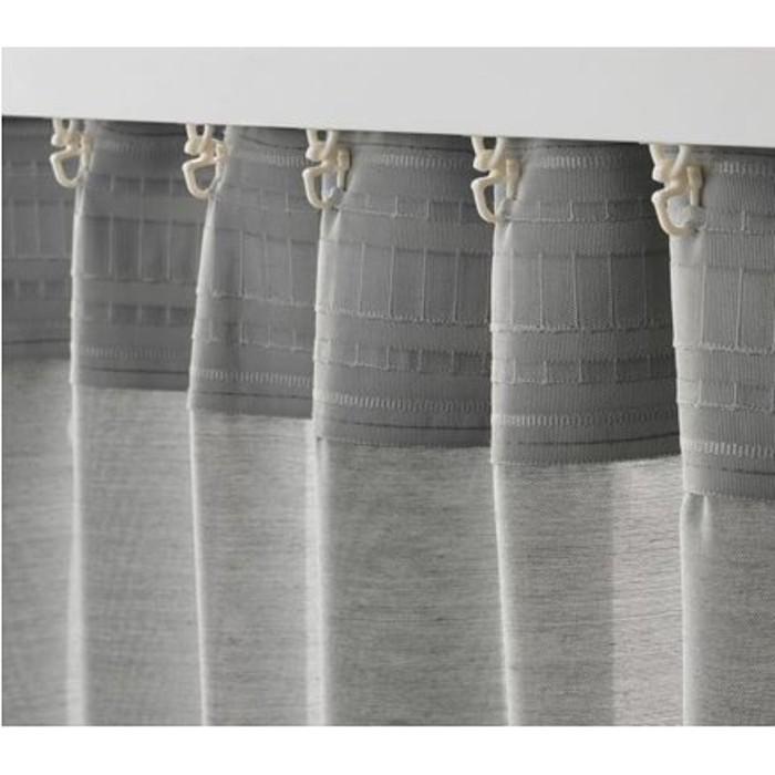 Гардины ХИЛЬЯ, размер 145х300 см, цвет серый