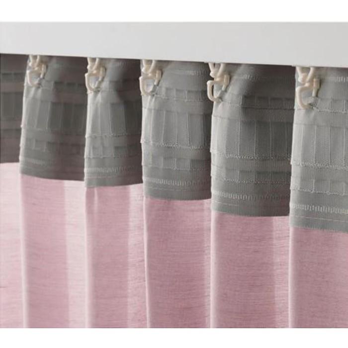 Гардины ХИЛЬЯ, размер 145х300 см, цвет розовый