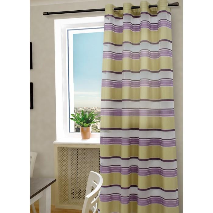 Тюль «Алира», ш. 150 х в. 260 см, цвет сиреневый