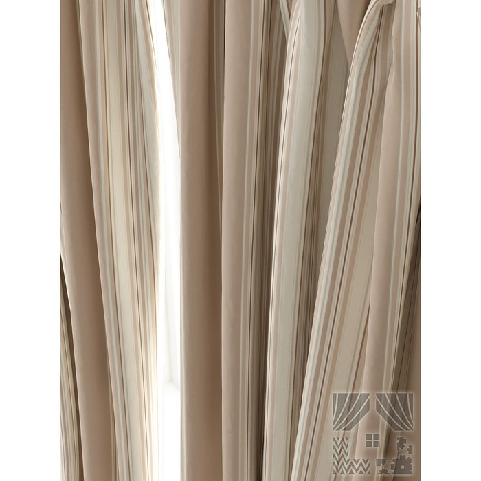 Портьера «Льюсли», размер 150 × 260 см - 1 шт, бежевый