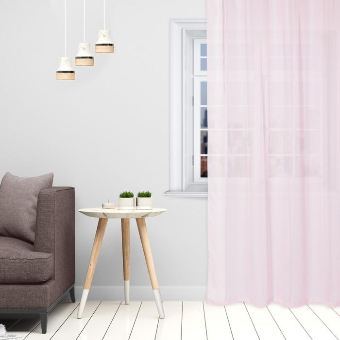 Тюль «Этель» 140×300 см, цвет розовый, вуаль, 100% п/э
