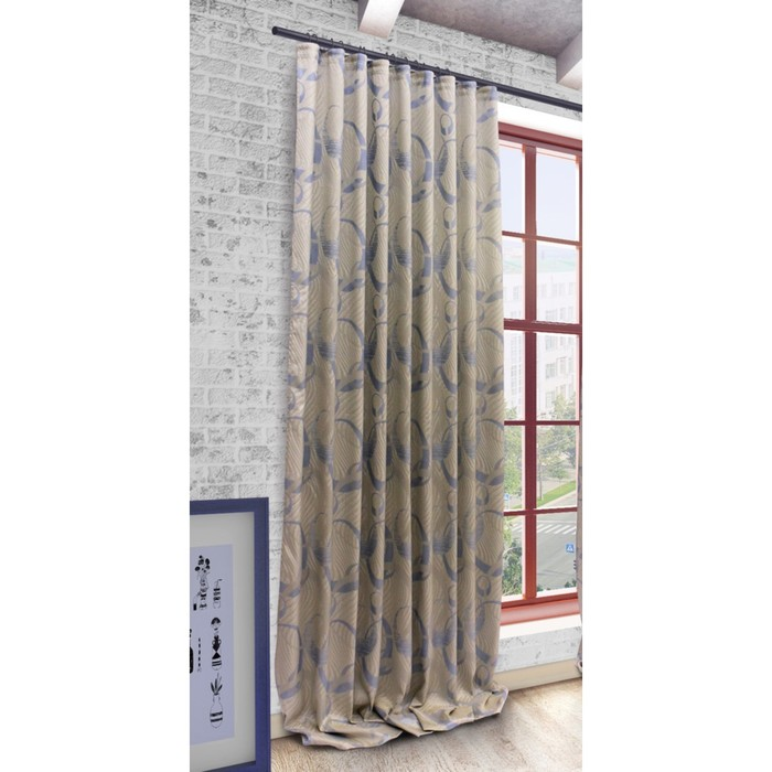 Портьера «Селина», ш. 200 х в. 280 см, цвет голубой