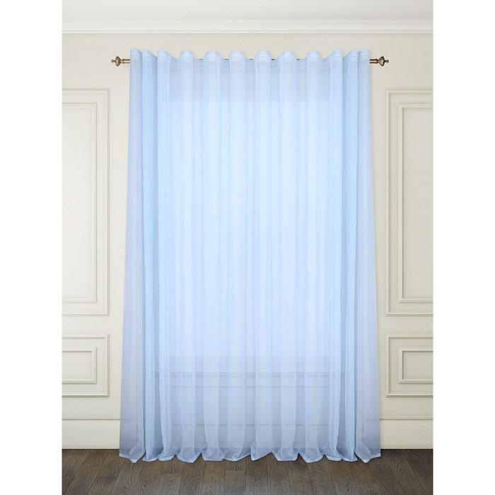 Тюль «Вело», цвет голубой, размер 300 х 260 см (1 шт.), вуаль