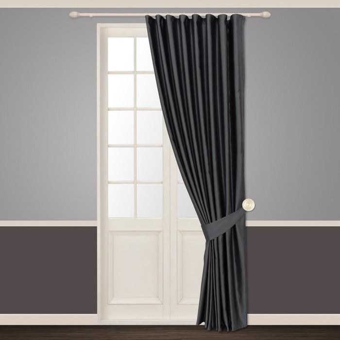 Портьера «Шания», ш. 180 х в. 260 см, цвет серый