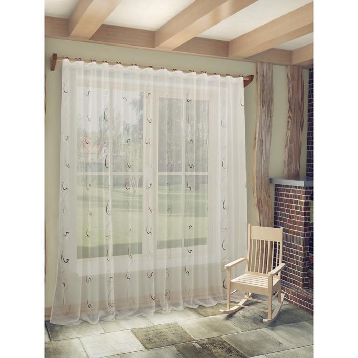 Тюль «Джози», ш. 300 х в. 260 см, цвет сиреневый