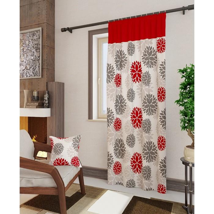 Портьера «Дарса-П», размер 148 × 260 см - 1 шт, красный