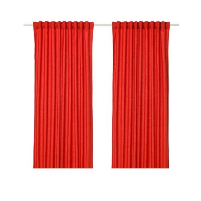 Гардины АННАЛУИЗА, размер 145х300 см, цвет красный