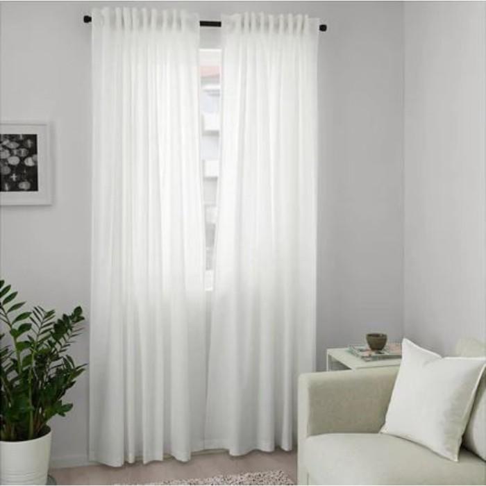 Гардины АННАЛУИЗА, размер 145х300 см, цвет белый