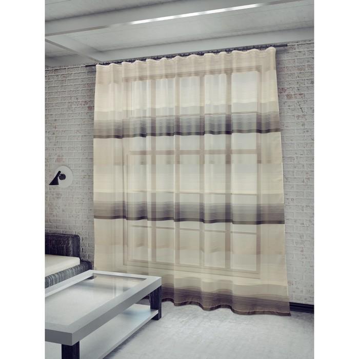 Тюль «Лучиана», ш. 285 х в. 255 см, цвет серый