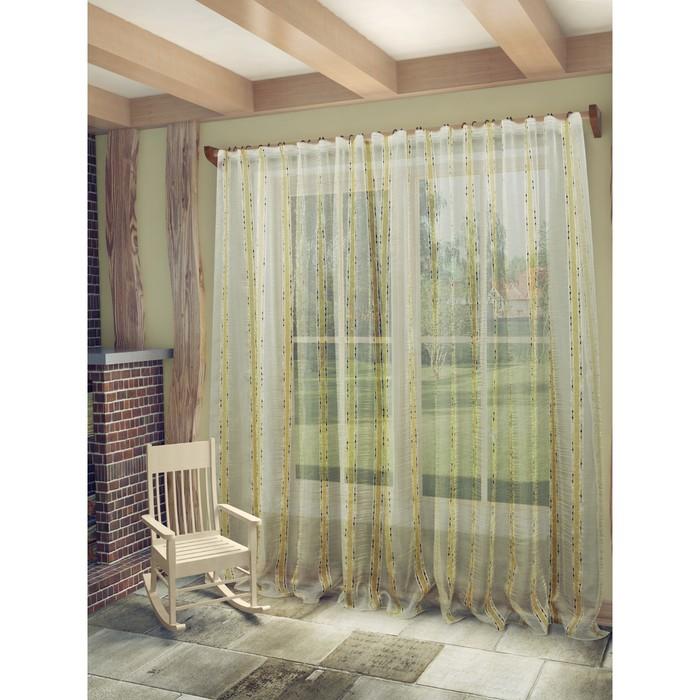 Тюль «Брук», ш. 300 х в. 260 см, цвет бежево-коричневый
