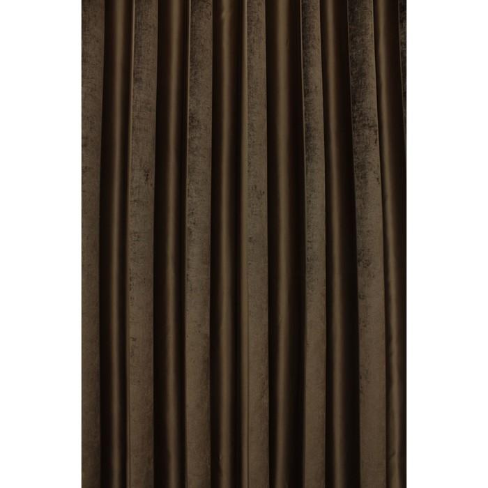 Портьера «Хилари», ш. 200 х в. 270 см, цвет коричневый
