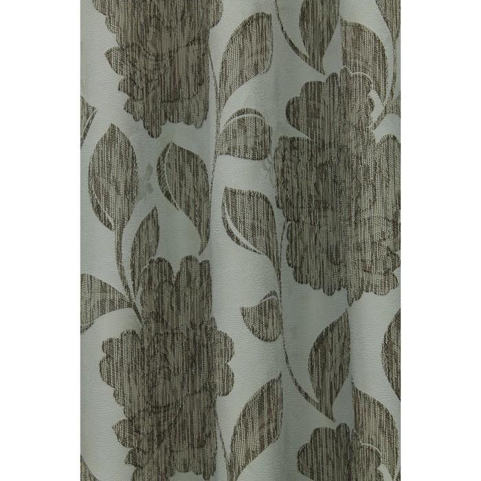 Портьера «Асанта», ш. 200 х в. 260 см, цвет бежево-бирюзовый