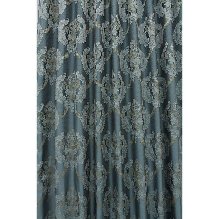 Портьера «Силвана», ш. 200 х в. 260 см, цвет голубой