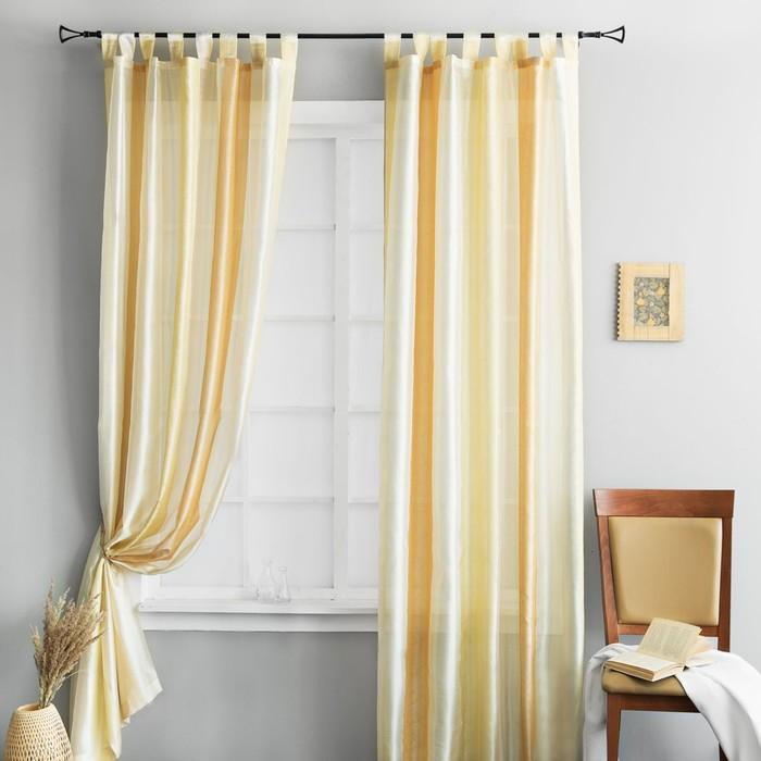 Комплект штор «Эмджей», размер 135 × 260 см - 2 шт, жёлтый