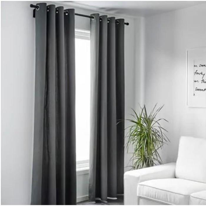 Гардины МЕРЕТЕ, размер 145х300 см, цвет серый