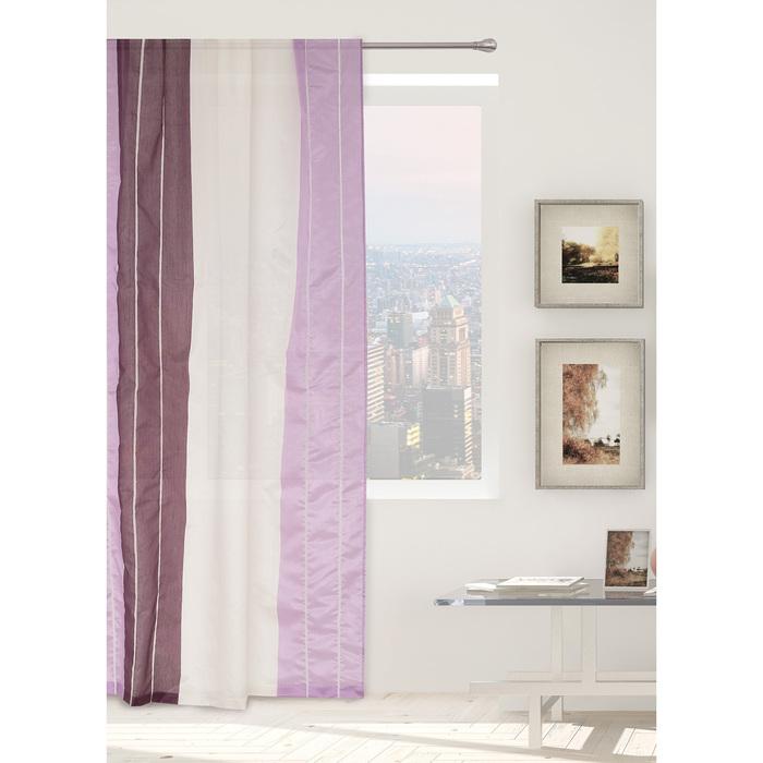 """Тюль """"Этель"""" Гамма фиолетовый 210х280 см (вертикальная полоса) 50 г/м², вуаль, 100% п/э"""