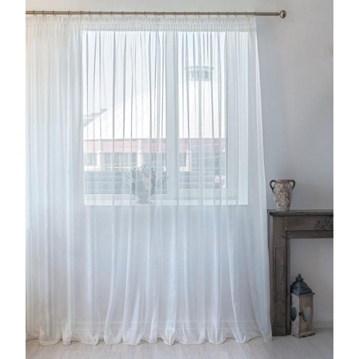 Тюль Hohmann, размер 300х250 см, цвет белый, шторная лента