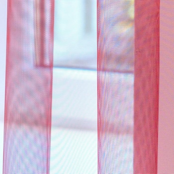 Тюль Hohmann, размер 300х270 см, цвет бордовый, шторная лента