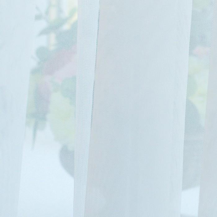 Тюль Hohmann, размер 400х270 см, цвет белый, шторная лента