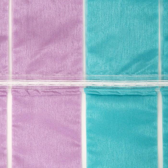 """Тюль """"Этель"""" Гамма (вид 2) голубой 140×280 см (вертикальная полоса) 50 г/м2, вуаль, 100% п/э"""