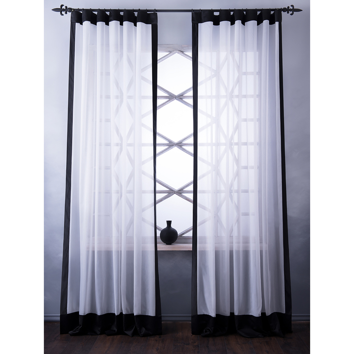 Комплект штор «Элио», размер 240х270 см, молочный