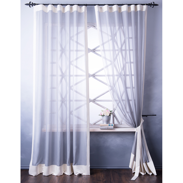 Комплект штор «Элио», размер 240х270 см, серый