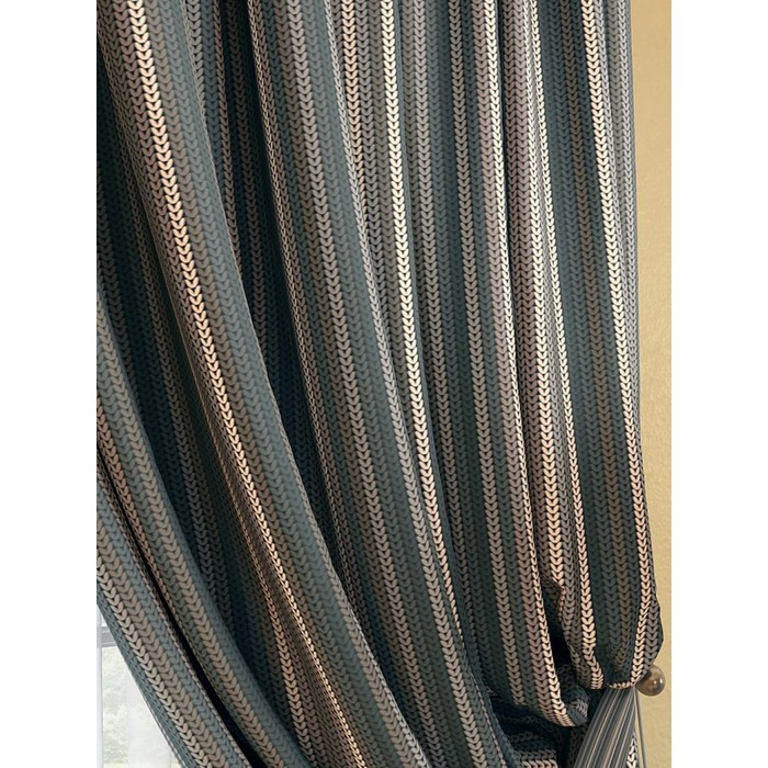 Комплект штор «Палис», размер 220 × 280 см - 2 шт, графит
