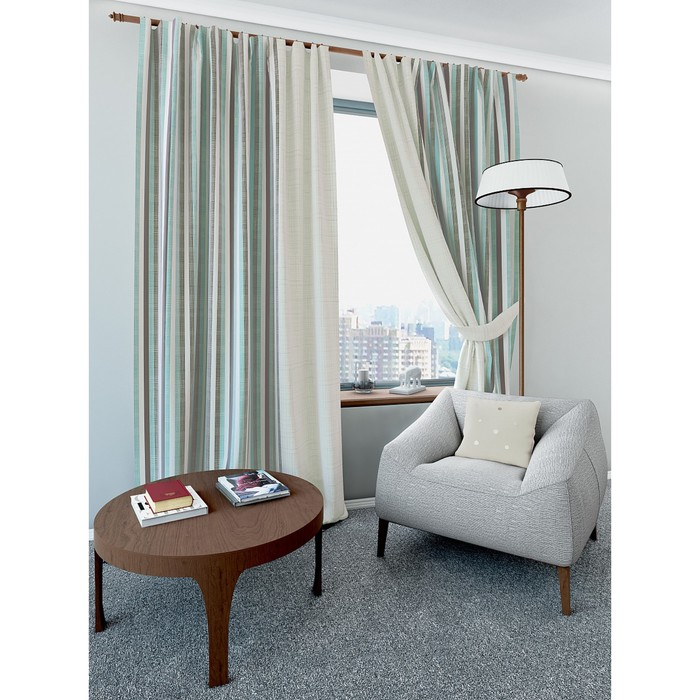 Комплект штор «Нарм», размер 220 × 280 см - 2 шт