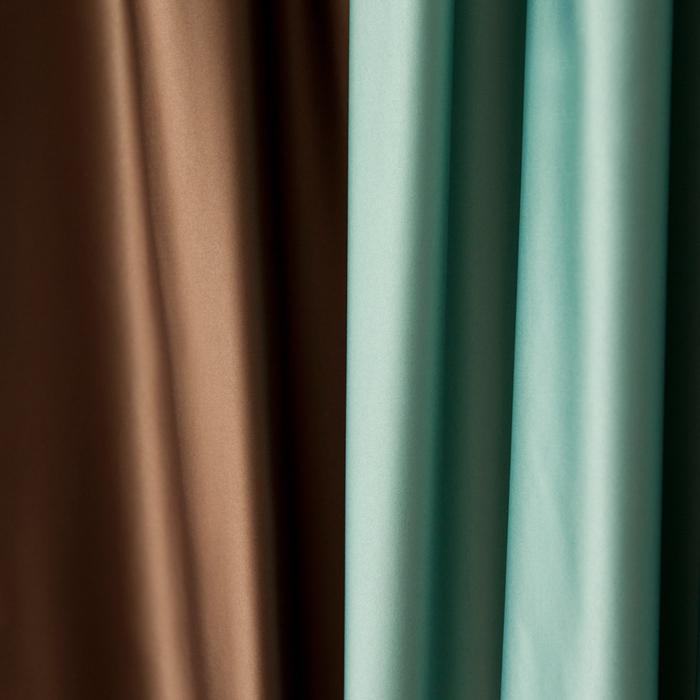 Комплект штор «Кидман», размер 200х270 см, светло-бирюзовый