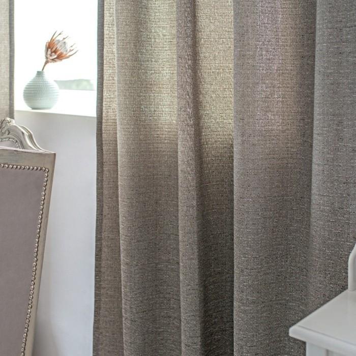Шторы Manchester, размер 160х270 см-2 шт., серый, шторная лента