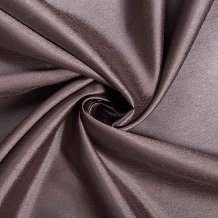Штора портьерная Mora 140х260 см, иск.шёлк, серый, пэ 100%