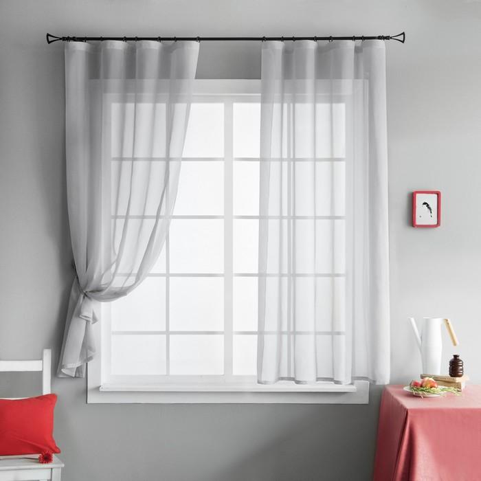 Комплект штор «Шелби», размер 145х175 см-2 шт, цвет серый