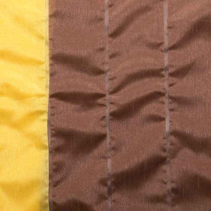 """Тюль """"Этель"""" 200х280 см Гамма коричневый (вертикальная полоса) 100% п/э"""