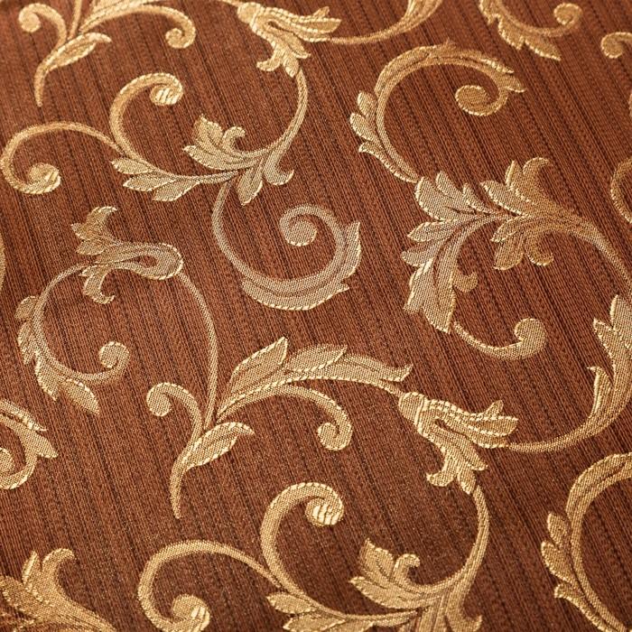 Штора портьерная Louvre 140х260 см, цв.коричневый, на шторной ленте, пэ 100%