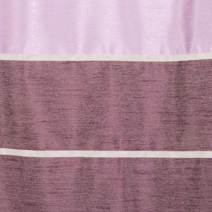"""Тюль """"Этель"""" 290х280 Гамма фиолетовый (горизонтальная полоса) б/утяжелителя, 100% п/э"""