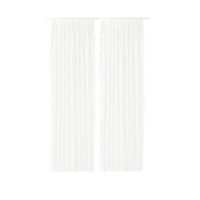Гардины ИНГВИЛЬД, размер 145х300 см, цвет белый