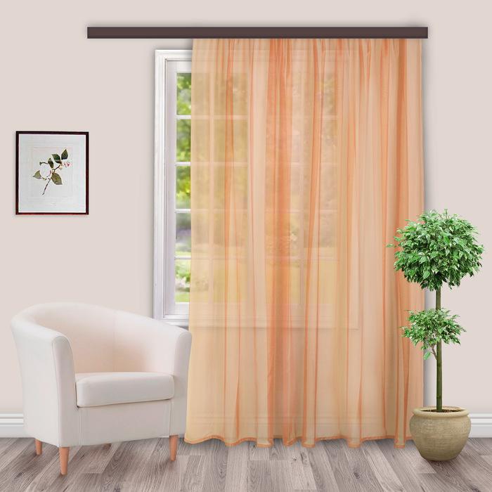 Вуаль, размер 500 × 260 см, цвет персиковый