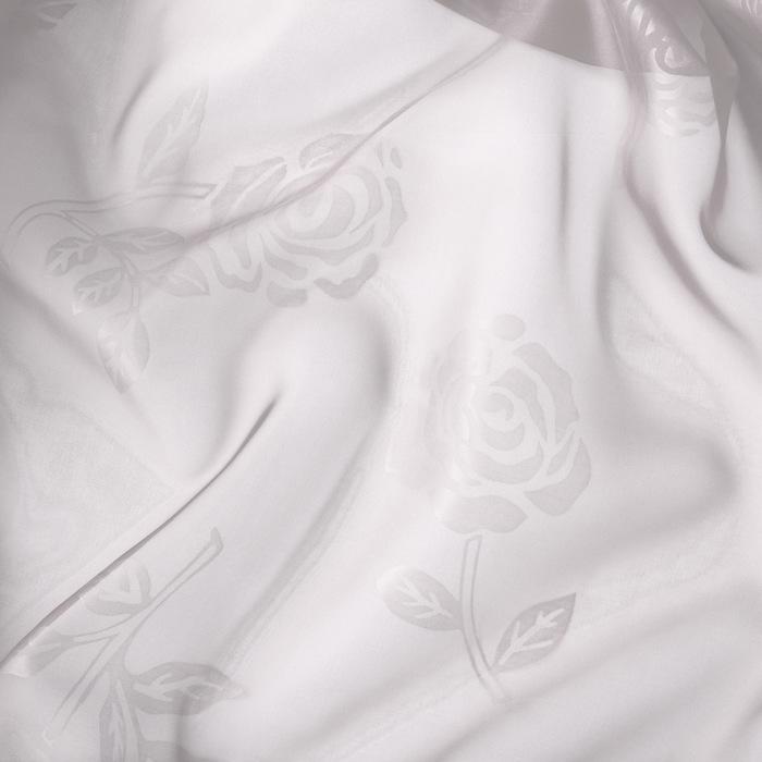 Штора вуаль с тиснением МИКС 140х260 см, цвет белый