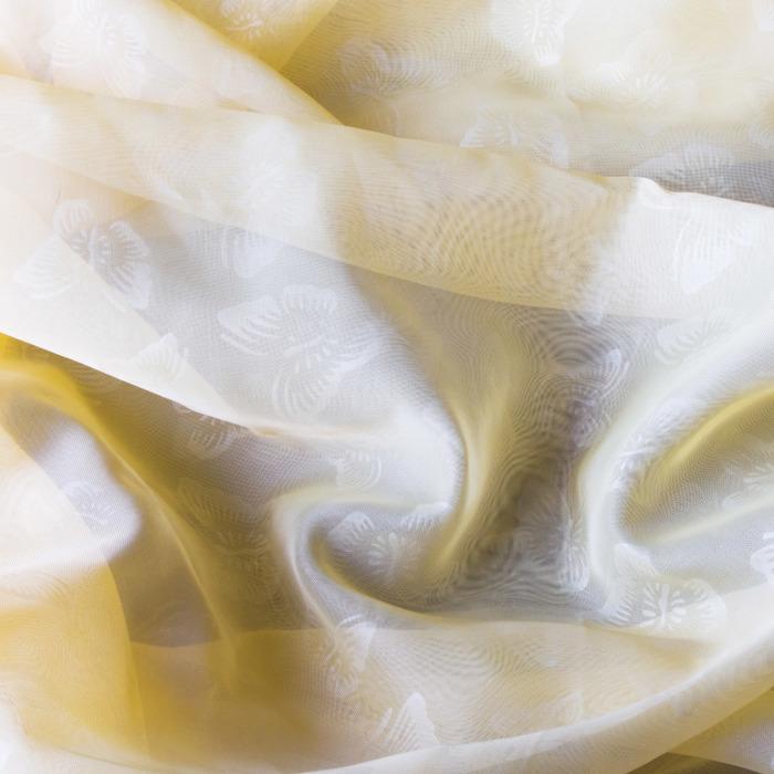 Вуаль с тиснением бабочки, размер 500 × 260 см, цвет шампань