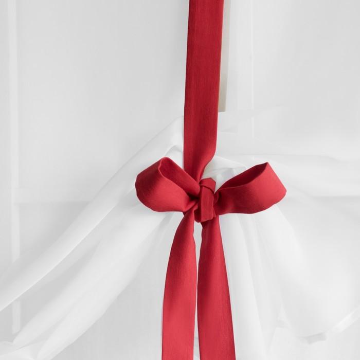 Портьера «Фила», размер 145х180 см-1 шт, цвет красный